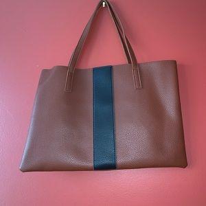 Vince Camuto vegan leather black stripe bag